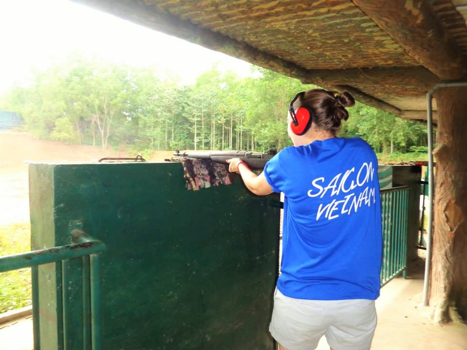 Vietnam Cu Chi Tunnel Jungle Shooting Range
