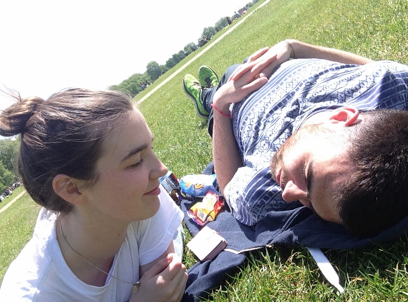 Lazy in Hyde Park London