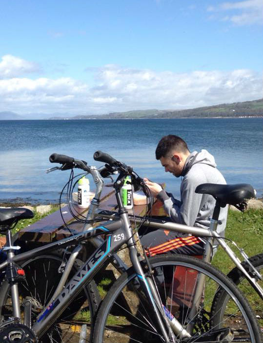 Lunch Cumbrae Cycling -edit