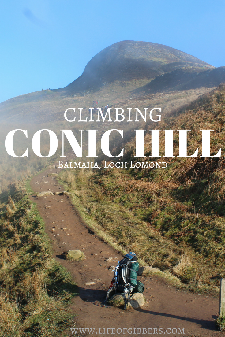 Climbing Conic Hill in Balmaha, Loch Lomond. & Trossachs National Park