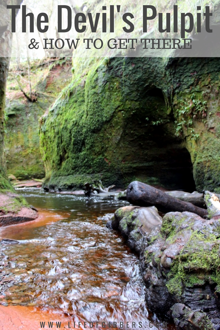 Hike to The Devil's Pulpit (Finnich Glen) & How to Get There