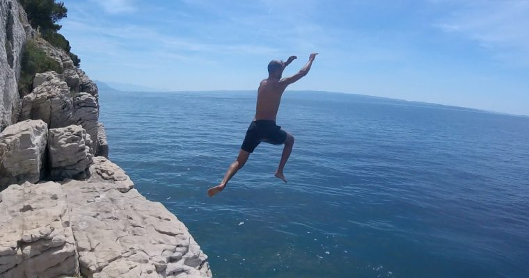 Kayaking & Cliff Jumping in Split, Croatia