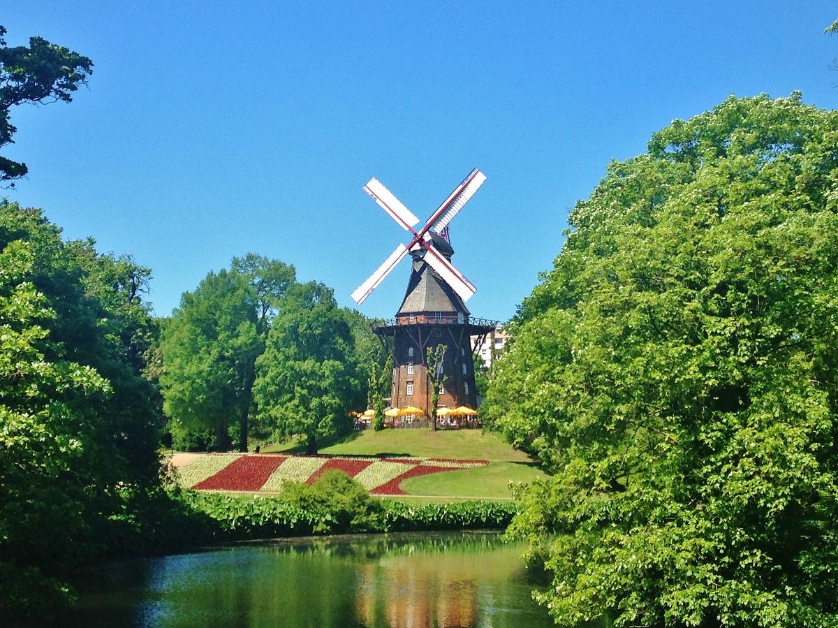 Am Wall Windmill - Bremen Marktplatz, Germany
