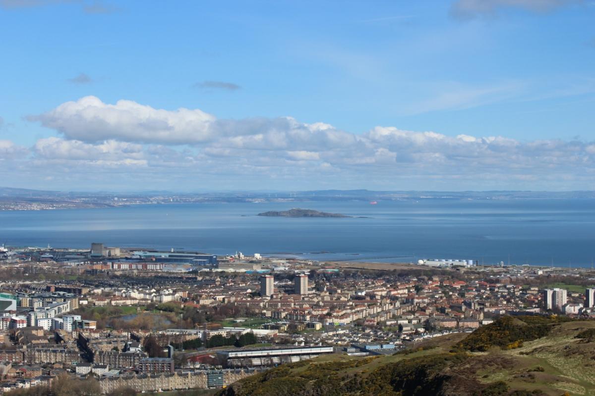 View from Arthur's Seat in Edinburgh
