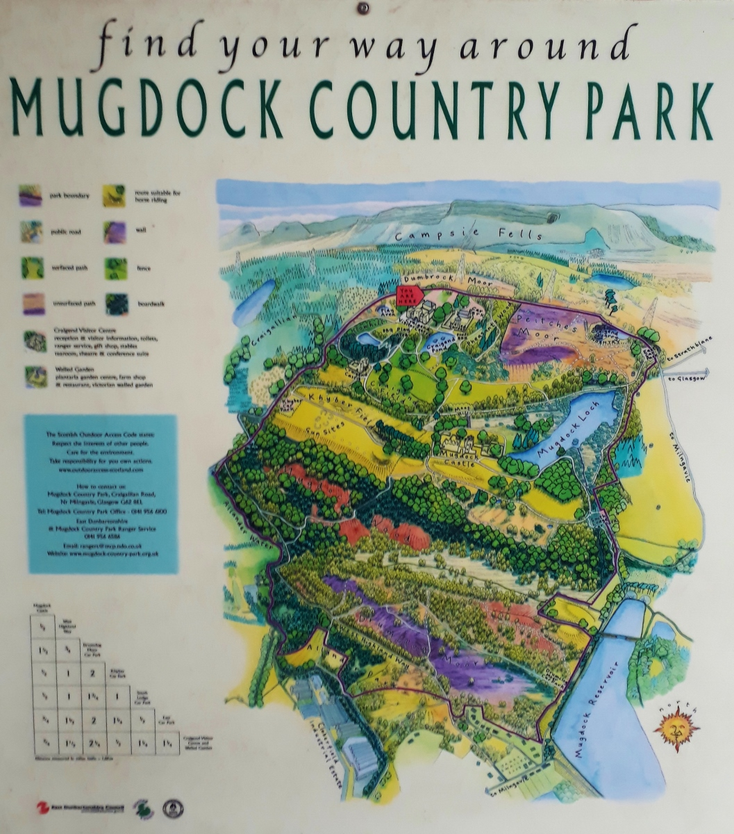 Mugdock Country Park Map and Route
