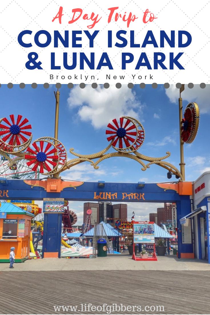 A Day Trip to Coney Island & Luna Park Pinterest Graphic