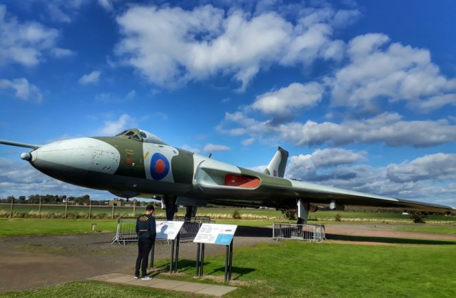 Vulcan plane on display in the airfield