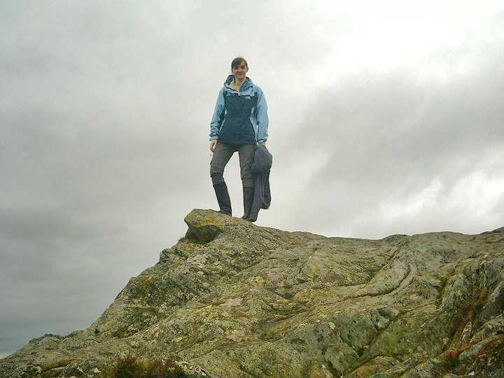 Standing at the peak of Ben A''an Trossachs