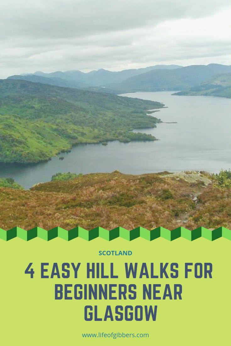4 easy hill walks for beginners near Glasgow in Scotland
