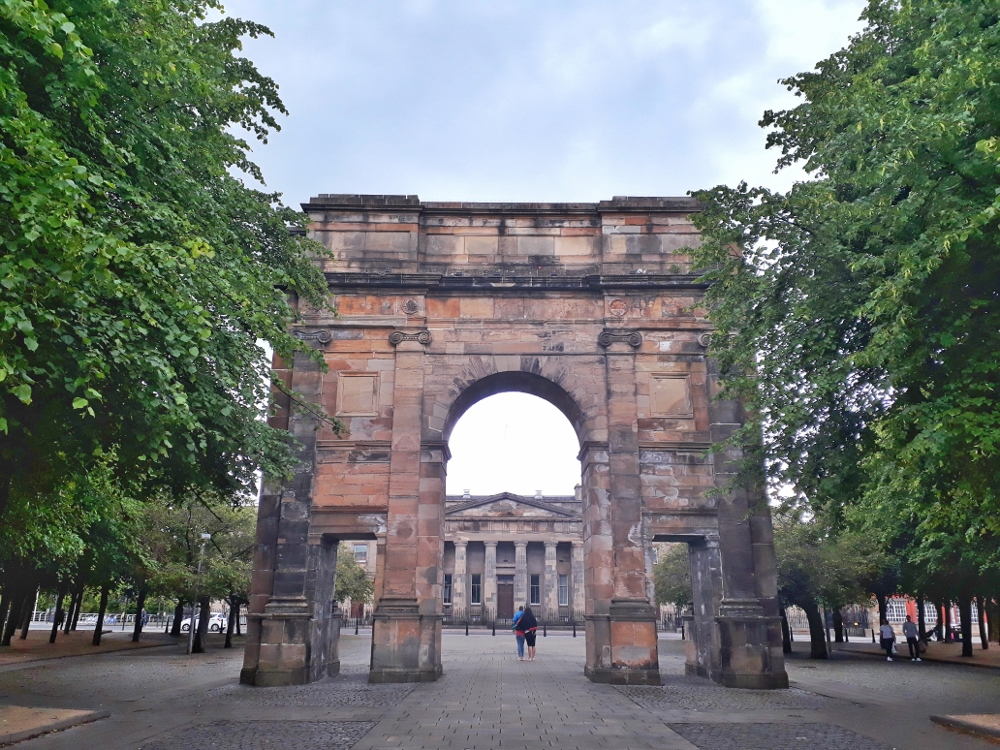 McLennan Arch in Glasgow Green Park