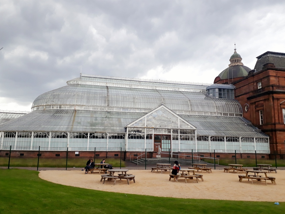 Winter Gardens in Glasgow Green Park
